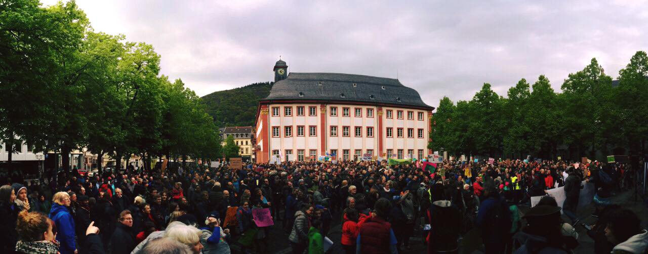 March for Science Uniplatz Heidelberg